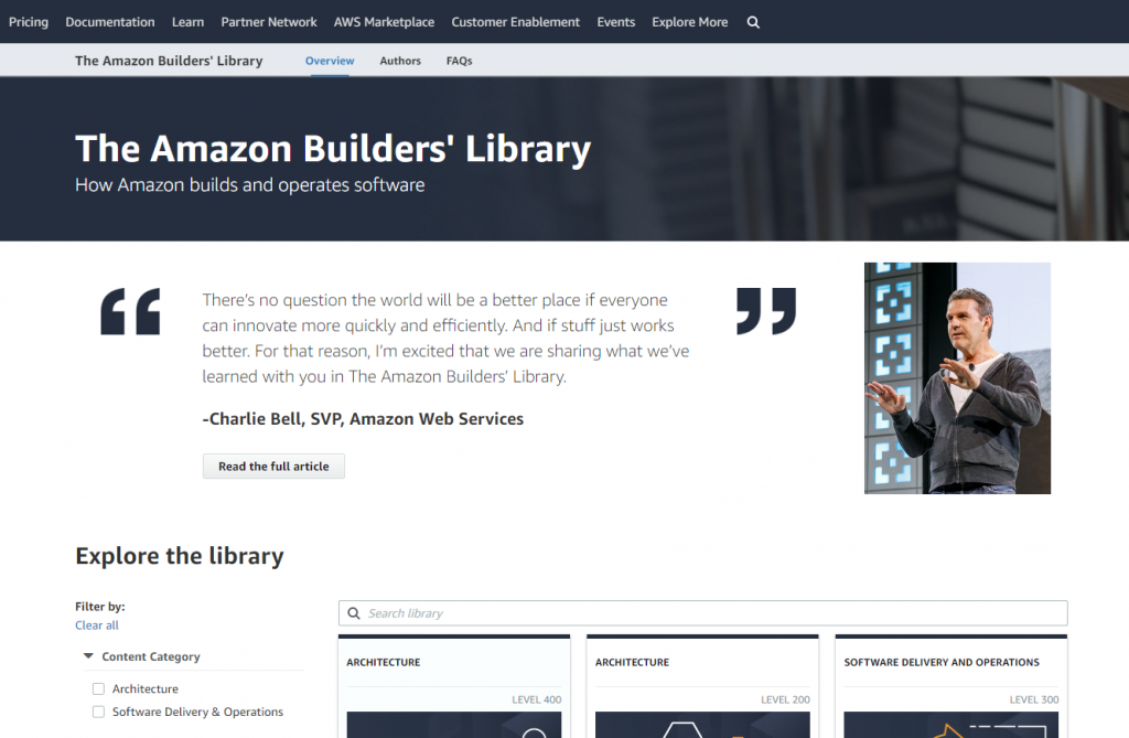 amazon builders library